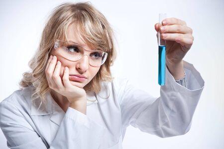 A shot of a caucasian female scientist photo