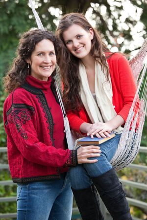A portrait of a happy mother and daughter outdoor Stock Photo - 6193109