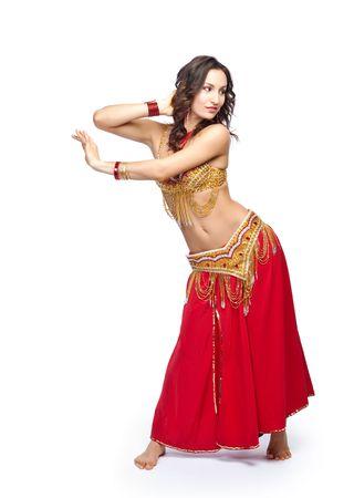 Un retrato de una hermosa danza del vientre