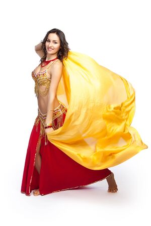 A portrait of a beautiful belly dancer Stock Photo - 6681237