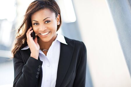 A shot of a beautiful black businesswoman on the phone Stock Photo - 7773589