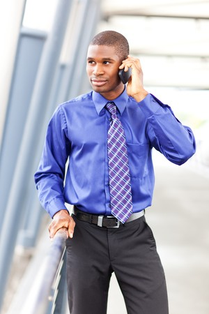 A shot of a black businessman on the phone Stock Photo - 7893662