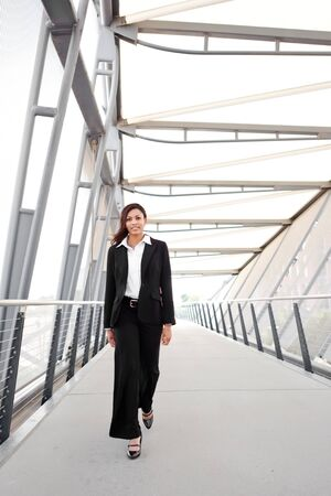 A shot of a beautiful black businesswoman outdoor Stock Photo - 8004355