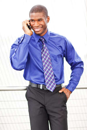 A shot of a black businessman on the phone Stock Photo - 8066324