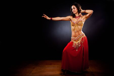 A portrait of a beautiful belly dancer Stock Photo - 8066337