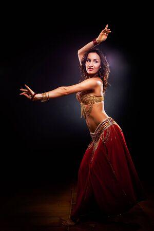 belly dancer: A portrait of a beautiful belly dancer