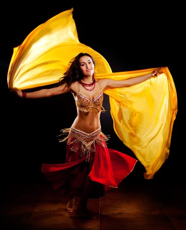 A portrait of a beautiful belly dancer photo