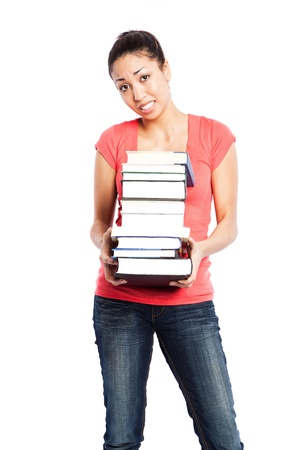 An isolated shot of a beautiful black college student Stock Photo - 8297839