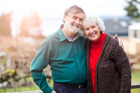 older couple: A portrait of a happy senior couple Stock Photo