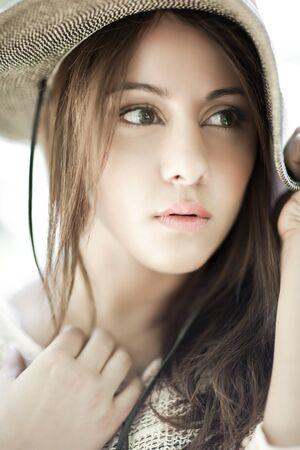 A fashion shot of a beautiful asian woman Stock Photo