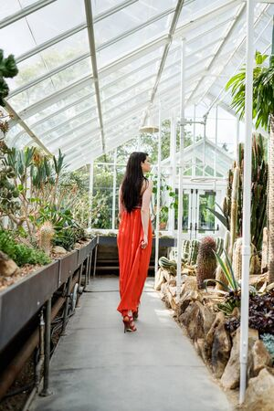 Woman in greenhouse series
