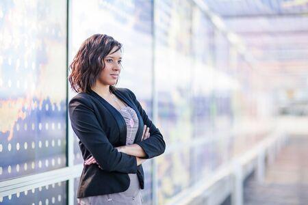 A shot of a African American businesswoman standing outdoor Reklamní fotografie