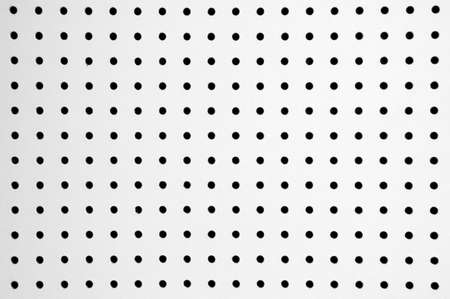 absorption: White cardboard with holes for sound absorption