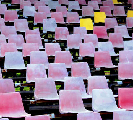 bleached: Ancient bleached seats in an old horse racing stadium