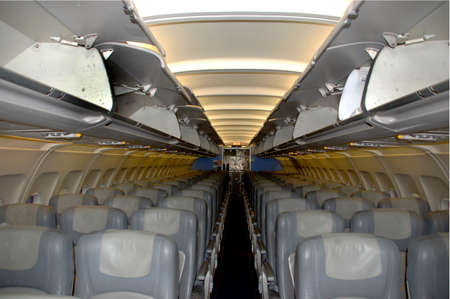 Inside view of an airplane without passengers Stock Photo - 2888334