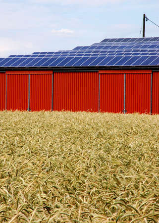 Solar energy panel on a rural building Stock Photo - 3313724