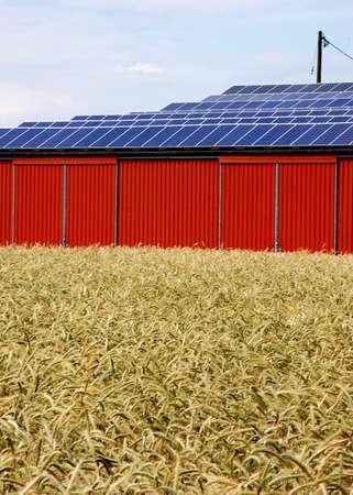 Solar energy panel on a rural building
