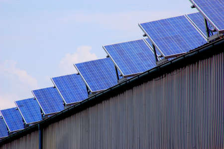 Solar energy panels on a rural barn Stock Photo - 3425510