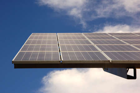 Solar energy panel on a pile Stock Photo - 3522518