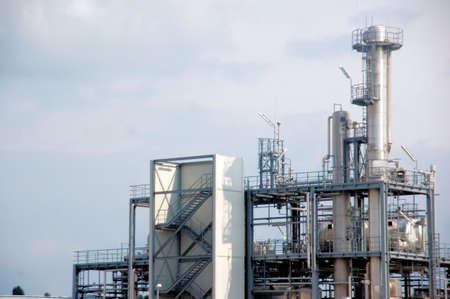 chemical plant: Apparatuur van een chemische fabriek