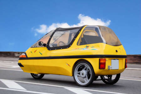 Solar mobile with electric motor