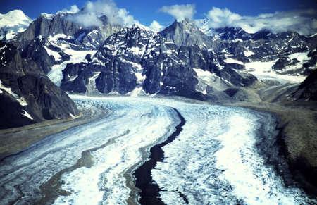 alaska scenic: Scenic view of the mountains and glacier in Alaska Stock Photo