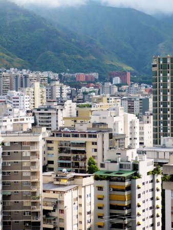 Aerial view on buildings in Caracas - Venezuela Banco de Imagens