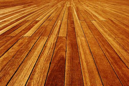Wooden panels on a boardwalk