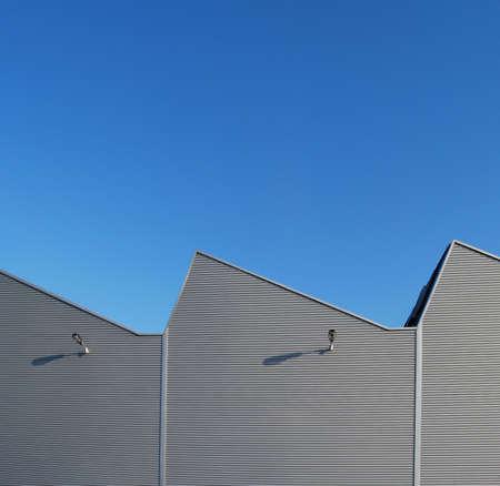 Aluminum facade of a factory building
