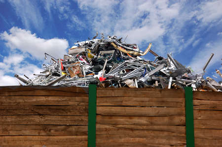 industrie: Scrap metal on a recycling storage Stock Photo