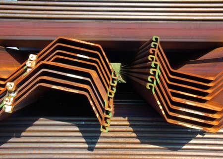 Perfil de acero en una zona industrial Foto de archivo - 4545455