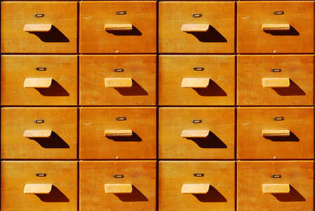 Brown antique wooden bureau drawers Stock Photo - 4708922