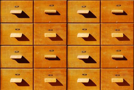 Brown antique wooden bureau drawers Stock Photo - 4708922