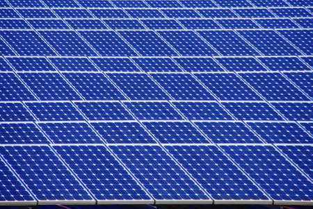 Huge amount of solar energy panels on a roof Stock Photo - 4708923