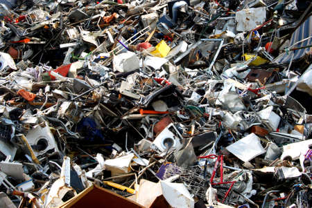 broken hill: Metal waste on a recycling site Stock Photo