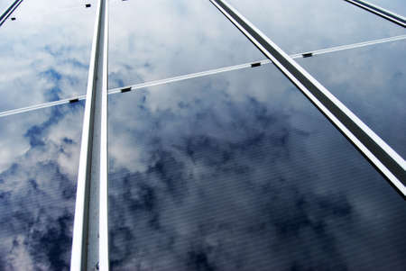 Solar energy panel with cloud reflection Stock Photo - 4875747