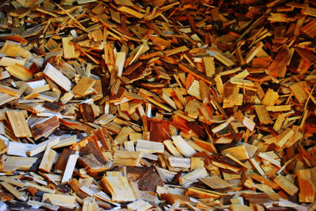 combustion: Wooden chips for a biomass combustion