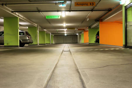 Cars in a public underground garage