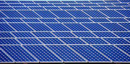 Blue solar panel on the roof of a building Stock Photo - 5910855