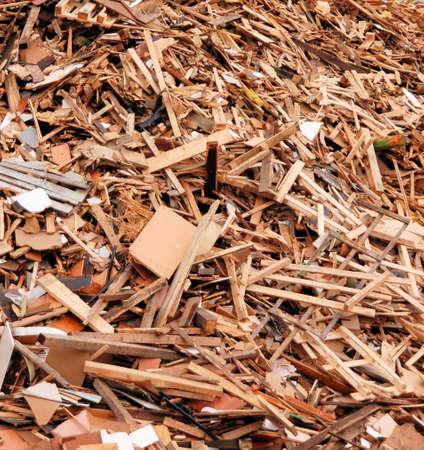 Hout voor verbranding in een biomassa ontstekings systeem