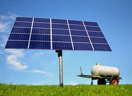 Solar energy panel on a pole Stock Photo - 9116441