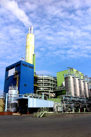 construction plant: Modern waste and industrial incineration plant in Germany  Stock Photo