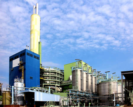 Modern waste and industrial waste incineration plant photo