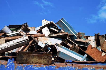 metallschrott: Detail Metallabfälle auf einem Recycling-Website