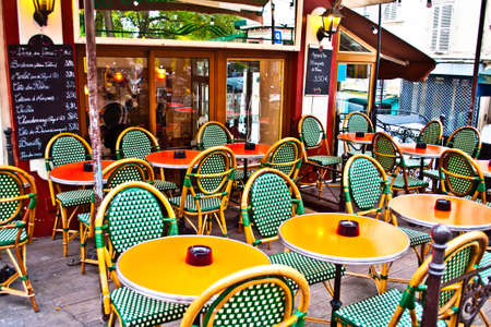 Typical bar and brasserie in Paris Stok Fotoğraf - 24060319