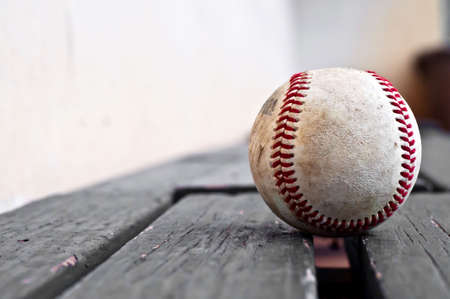 substitute: Baseball on a substitutes bench Stock Photo
