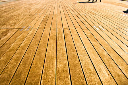 Vanishing point view of a wooden boardwalk Stock Photo - 24060321