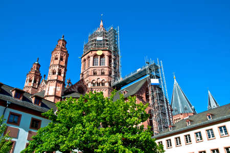 mainz: The cathedral of Mainz in Germany Stock Photo