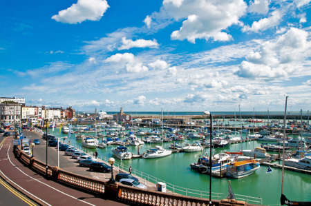 kent: Aerial view of the harbour of Ramsgate in Kent in England