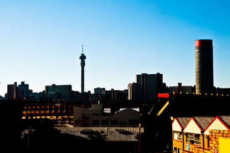 johannesburg: The skyline of downtown Johannesburg in South Africa